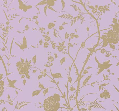 Thibaut Liang Lavender With Gold Metallic Wallpaper Main Image