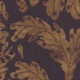 Zoffany Cochin  Charcoal/ Rust Wallpaper