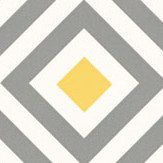 Layla Faye Diamond Slate Yellow Wallpaper
