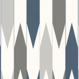 Layla Faye Arrows  Slate Azure Wallpaper