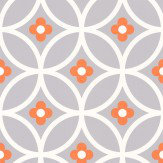 Layla Faye Daisy Chain Large  Orange Surprise Wallpaper