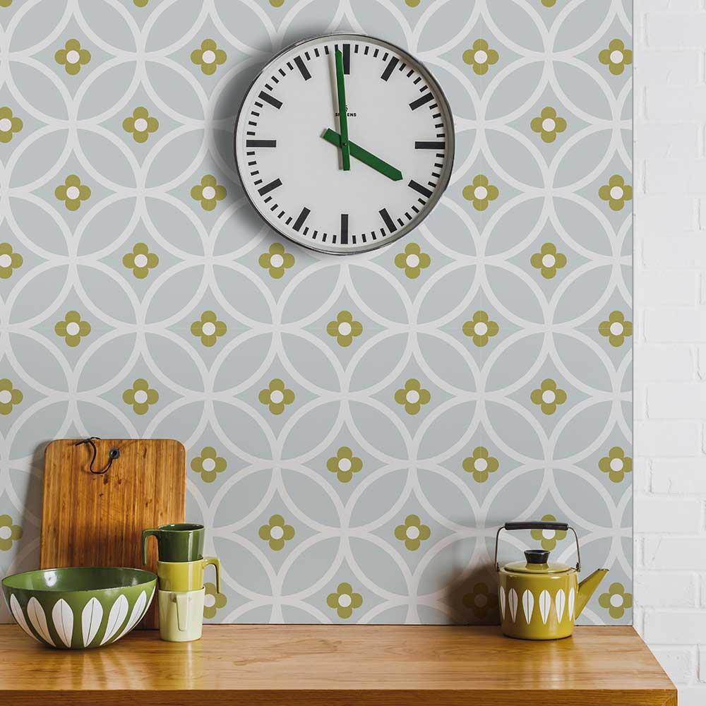 Daisy Chain Large  Wallpaper - Light Autumn - by Layla Faye