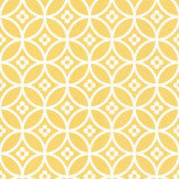 Layla Faye Daisy Chain Small  Yellow Mellow Wallpaper