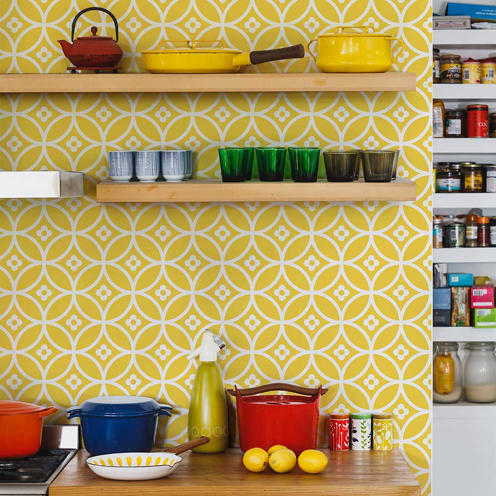 Layla Faye Daisy Chain Small  Yellow Mellow Wallpaper extra image