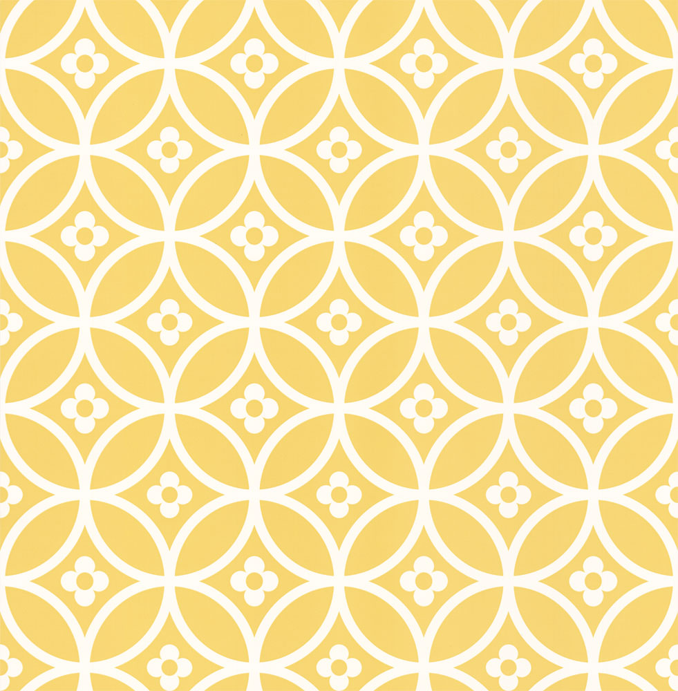 Layla Faye Daisy Chain Small  Yellow Mellow Wallpaper main image