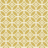 Layla Faye Daisy Chain Small  Golden Moss Wallpaper
