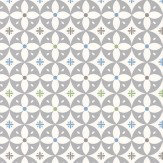 Layla Faye Flower Breeze  Grey Cadet Wallpaper - Product code: LF1041