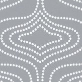Layla Faye Whistle Dots  Slate Grey Wallpaper