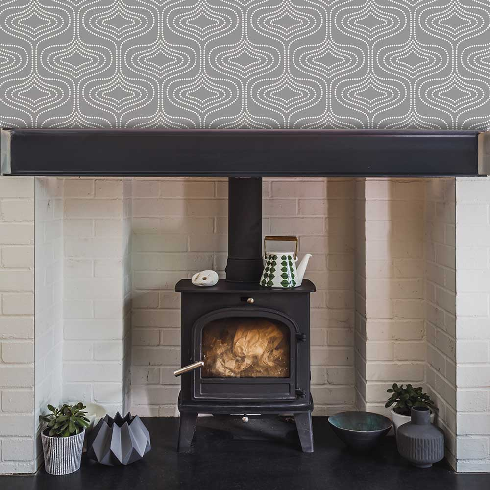 Layla Faye Whistle Dots  Slate Grey Wallpaper - Product code: LF1000