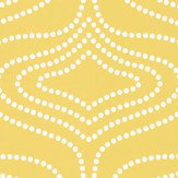 Layla Faye Whistle Dots  Meadow Mustard Wallpaper