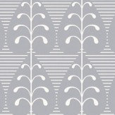 Layla Faye Golden Leaf  Light Slate Grey Wallpaper