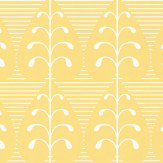 Layla Faye Golden Leaf  Mustard Sand Wallpaper