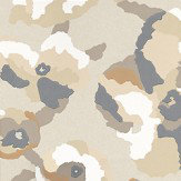 Casamance Efflorescence Gold Brown / White / Metallic Gold Wallpaper - Product code: 7257 0129