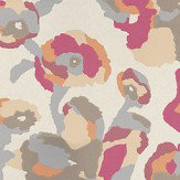 Casamance Efflorescence Pink Orange / Pink / Brown / Metallic Gold Wallpaper