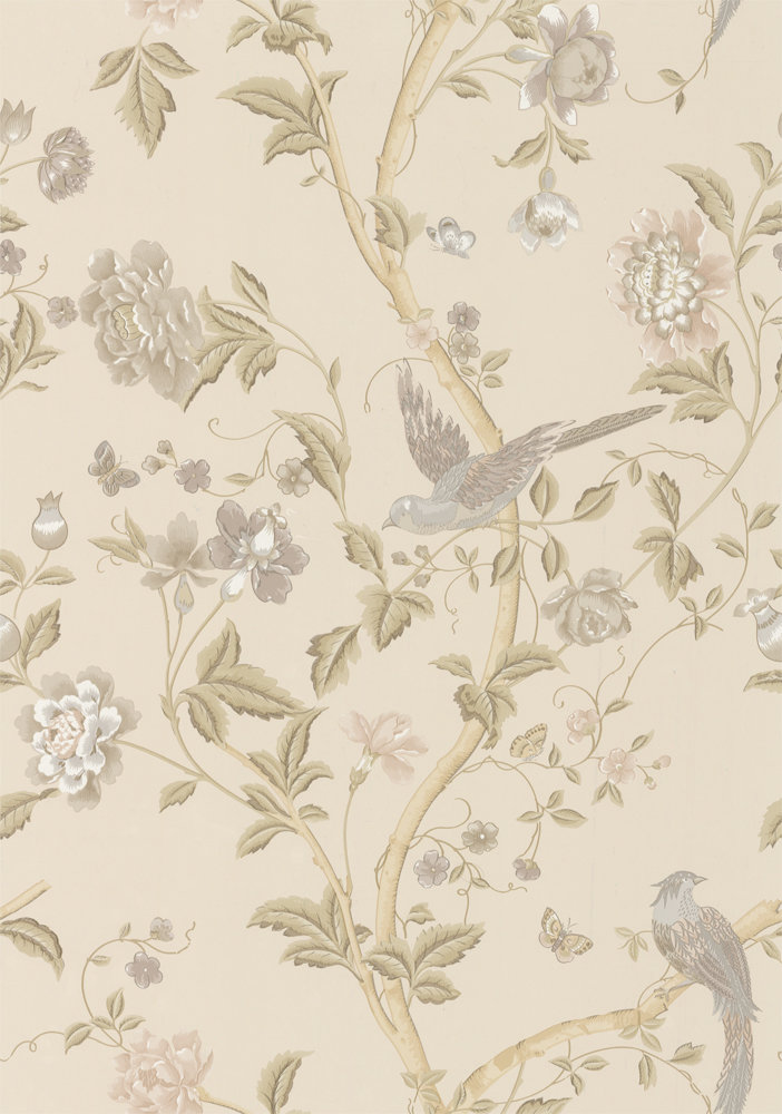 Laura Ashley Summer Palace Taupe Ivory Wallpaper Main Image