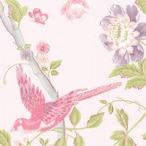 Laura Ashley Summer Palace   Cerise Wallpaper