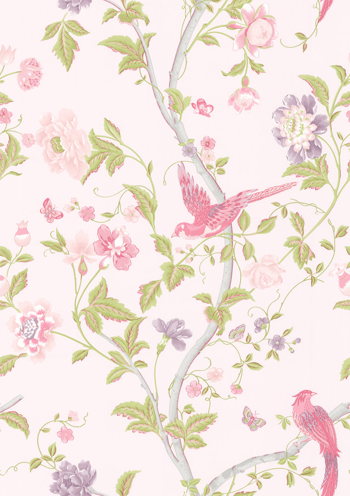 Laura Ashley Summer Palace Cerise Curtains
