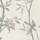 G P & J Baker Peony & Blossom Dove/ Silver Wallpaper - Product code: BW45066/1