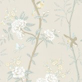 G P & J Baker Peony & Blossom Soft Aqua Cream / Aqua Wallpaper - Product code: BW45066/3