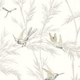 G P & J Baker Waters Edge Dove Cream / Pale Silver Wallpaper