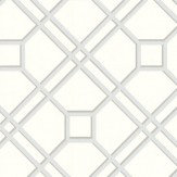 G P & J Baker Langdale Trellis Dove Pale Grey / Cream Wallpaper