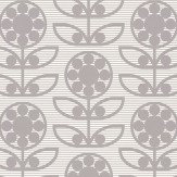 Layla Faye Dotty Flower  Swirly Grey Wallpaper
