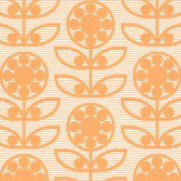 Layla Faye Dotty Flower  Tangy Orange Wallpaper