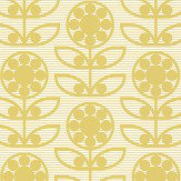 Layla Faye Dotty Flower  Light Olive Wallpaper - Product code: LF1033