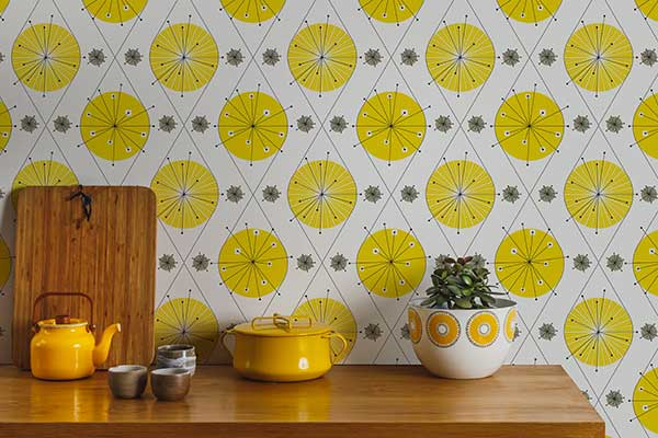 Layla Faye Botanical Bursts  Summer Yellow Wallpaper