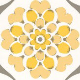 Layla Faye Flower Swirl  Sunburst Wallpaper