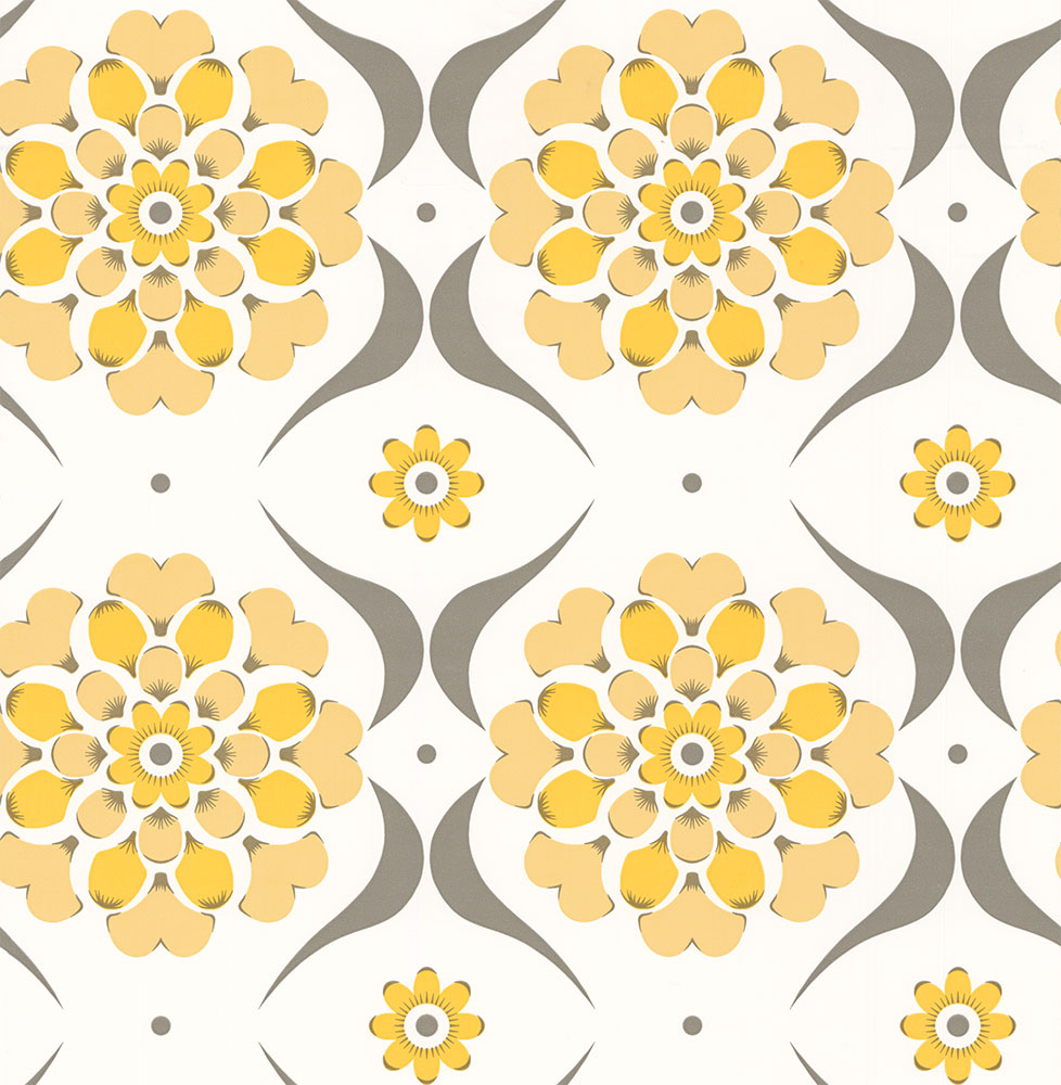 Layla Faye Flower Swirl Sunburst Wallpaper main image