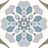 Layla Faye Flower Swirl  Blue Hue Wallpaper