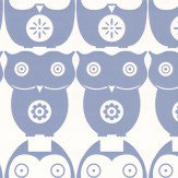 Layla Faye Owls  Powder Blue Wallpaper
