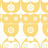 Layla Faye Owls  Yellow Daisy Wallpaper
