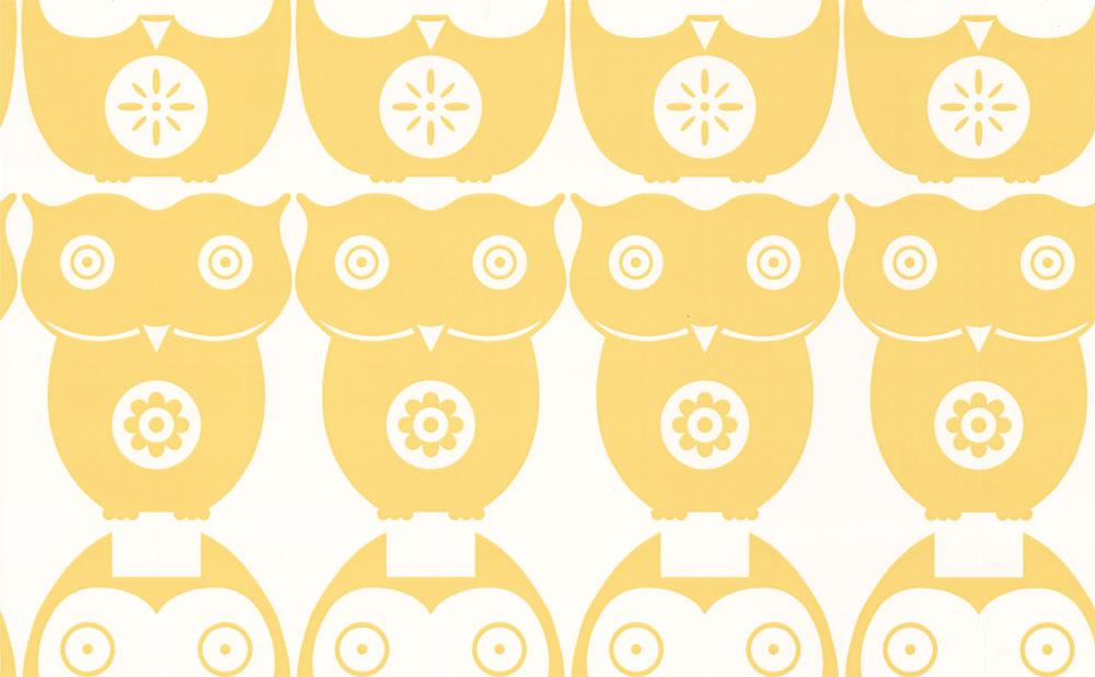 Layla Faye Owls  Yellow Daisy Wallpaper main image
