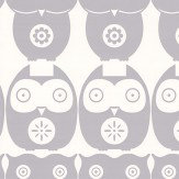 Layla Faye Owls  Grey Owl Wallpaper