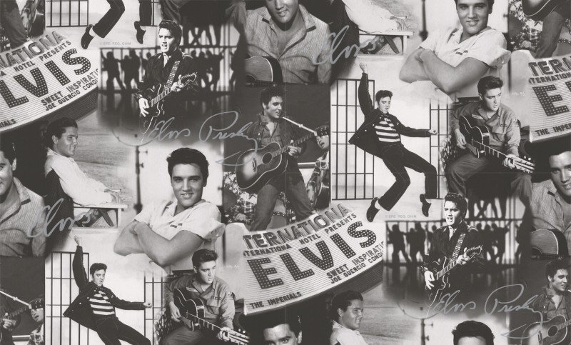 Image of Screen Icons Wallpapers Elvis Presley Montage, 102544