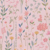 Coordonne Field of Flowers Pink Wallpaper