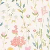 Coordonne Field of Flowers White Wallpaper