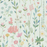 Coordonne Field of Flowers Mint Wallpaper