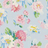 Coordonne La Vie en Rose Blue Wallpaper