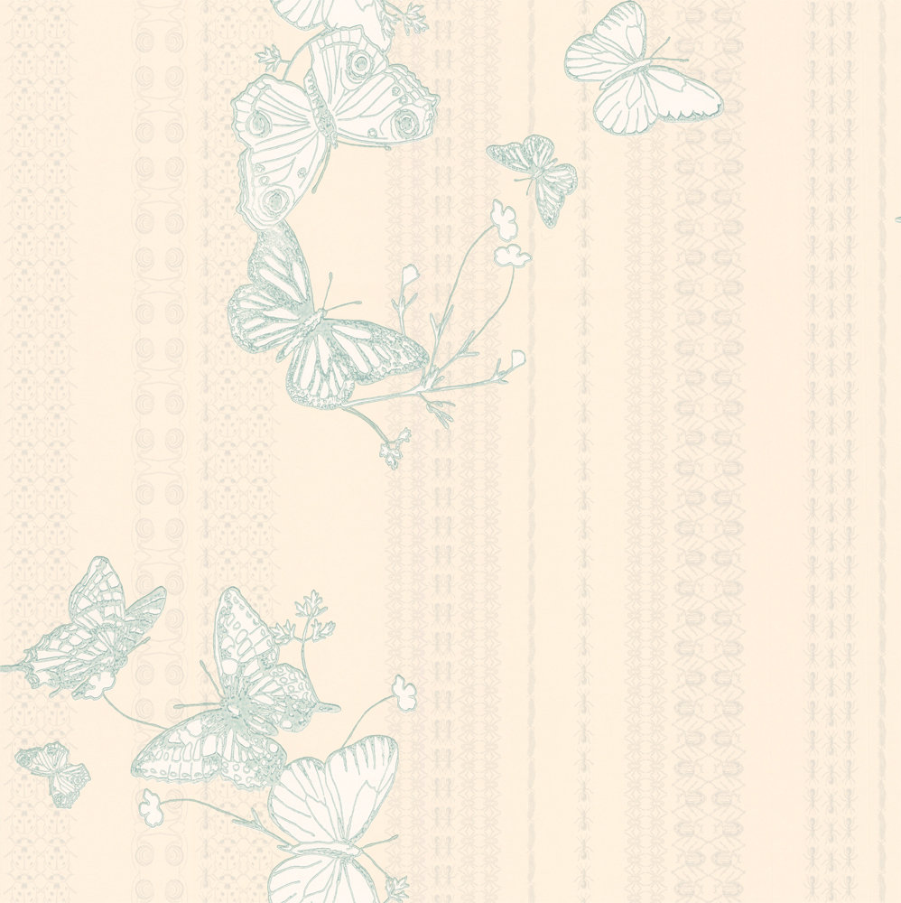 Barneby Gates Bugs & Butterflies Ice Blue Ice Blue / Cream Wallpaper - Product code: BG0100302