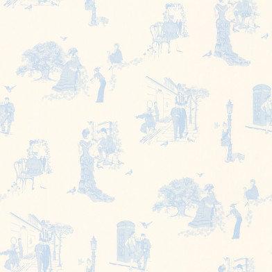 Image of Barneby Gates Wallpapers Promenade Wedgwood Blue, BG0200201