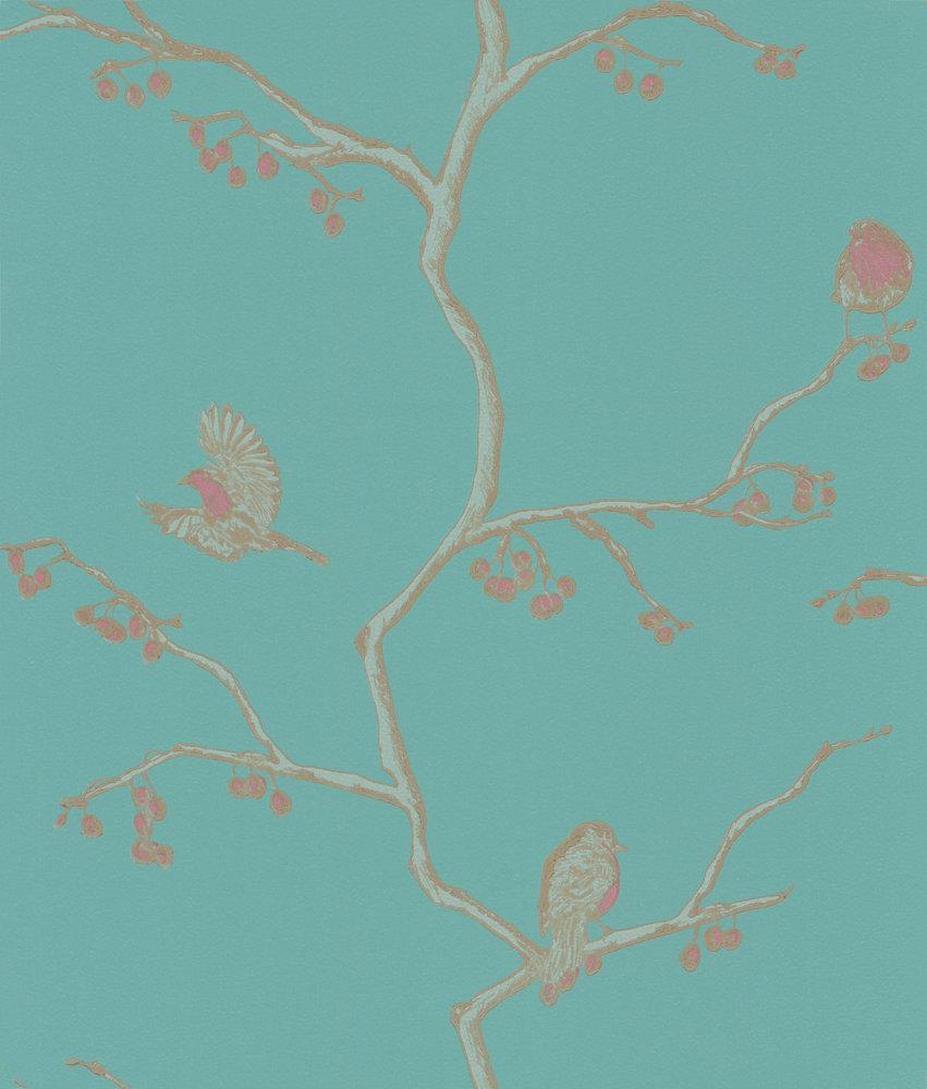 Barneby Gates The English Robin Jade Wallpaper - Product code: BG0300101
