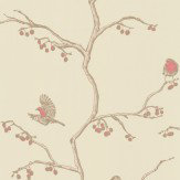 Barneby Gates The English Robin Parchment Wallpaper