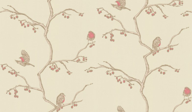 Image of Barneby Gates Wallpapers The English Robin Parchment, BG0300102
