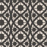 Timney Fowler Lace Black & White Stripe Wallpaper