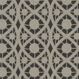 Timney Fowler Lace Black & Pewter Black / Pewter Wallpaper