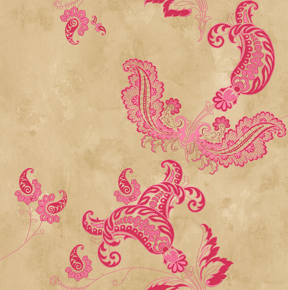 Barneby Gates Paisley Hot Pink Wallpaper - Product code: BG0800201