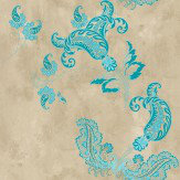 Barneby Gates Paisley Turquoise Wallpaper - Product code: BG0800202